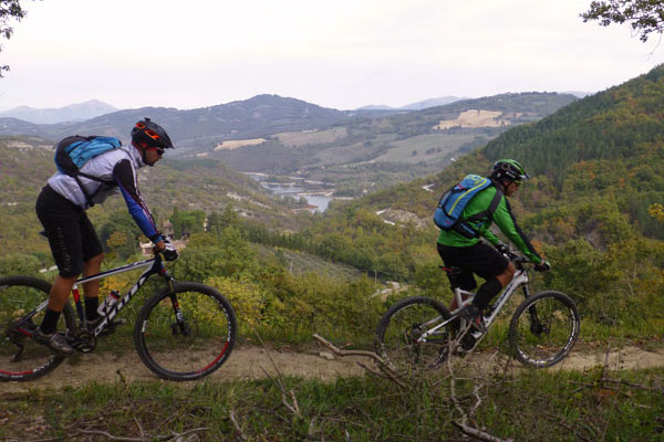 gubbio assisi in mountain bike