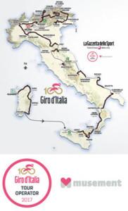 MAPPA GIRO D'ITALIA