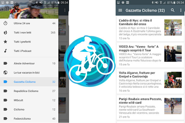App Android notizie ciclismo