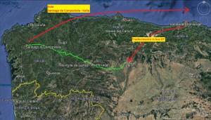 percorso completo cammino di santiago mtb 2018